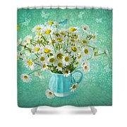 Butterfly Kisses And Flower Petal Wishes  Shower Curtain