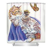Butterfly Kitten Shower Curtain