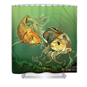 Butterfly Koi Shower Curtain
