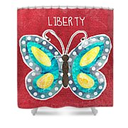Butterfly Liberty Shower Curtain