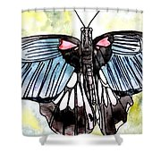 Butterfly Macro Shower Curtain