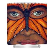 Butterfly Mask Shower Curtain