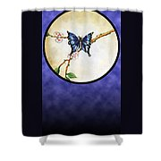 Butterfly Moon Shower Curtain