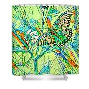 Butterfly Mosiac Shower Curtain