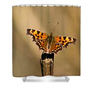 Butterfly On A Stick Shower Curtain