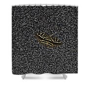 Butterfly On Stone Shower Curtain
