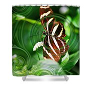 Butterfly Overlay Shower Curtain