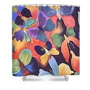 Butterfly Painting Shower Curtain