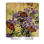 Butterfly Party Shower Curtain