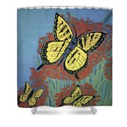 Butterfly Picnic Shower Curtain