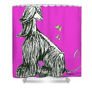 Butterfly Pink Shower Curtain