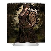 Butterfly Princess Of The Forest Shower Curtain