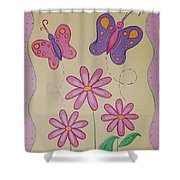 Butterfly Smiles Shower Curtain