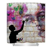 Butterfly Song Shower Curtain