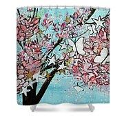 Butterfly Star Magnolia Soulangeana 201825 Shower Curtain