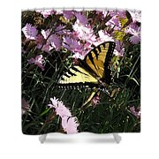 Butterfly Surprise Watercolor Shower Curtain