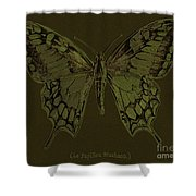 Butterfly Swallow Tail Shower Curtain