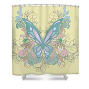 Butterfly Swirls Shower Curtain
