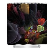 Butterfly Tea - Fractal Art Shower Curtain