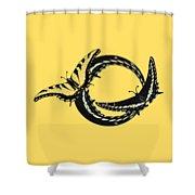 Butterfly Twist Shower Curtain