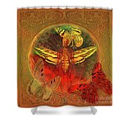 Butterflyman Solarlife Shower Curtain by Joseph Mosley