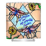 Butterflywhispers1 Shower Curtain