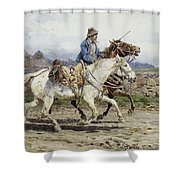 Buttero Riding In The Roman Campagna Shower Curtain