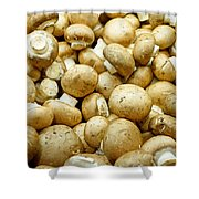 Button Mushrooms Shower Curtain