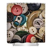 Buttons And Buttons Shower Curtain