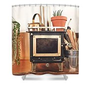Buy Miniature Wood Cook Stoves Online Shower Curtain