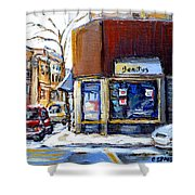 Buy Original Montreal Paintings Beauty's Winter Scenes For Sale Achetez Petits Formats Tableaux  Shower Curtain