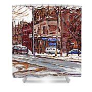 Buy Original Paintings Montreal Petits Formats A Vendre Scenes De Pointe St Charles Cspandau Artist Shower Curtain