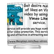 Buy Vimeo Likes Shower Curtain