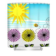 Buzzy As A Bee Shower Curtain