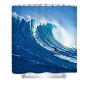 Buzzy Kerbox Surfing Big Shower Curtain