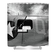Bw Aircraft Gunner Window Shower Curtain