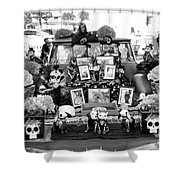Bw Classic Car Trunk Decor Day Dead  Shower Curtain