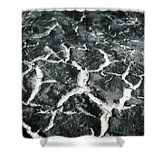 Bw Crackle Shower Curtain