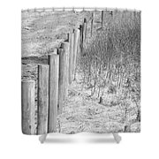 Bw Fence Line Shower Curtain