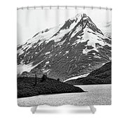 Bw Glacier Alaska  Shower Curtain