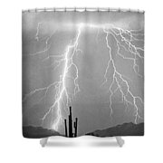 Bw Lightning From Heaven Shower Curtain