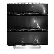 Bw Lightning Thunderstorm Sequence Shower Curtain