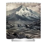 Bw Mountain Rapids Shower Curtain