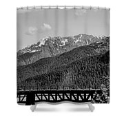 Bw Rail Alaska  Shower Curtain