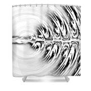 Black White Splendor Shower Curtain
