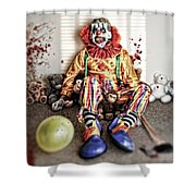 By Blood A King In Heart A Clown Shower Curtain