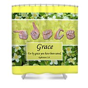 By Grace Shower Curtain