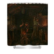By Hammer And Hand All Arts Doth Stand Shower Curtain