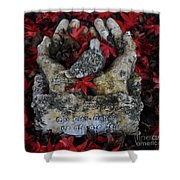 By His Hands Shower Curtain