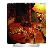 By Lamplight Shower Curtain